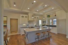 Kitchen White Grey Cabinets by Stonebridge Design