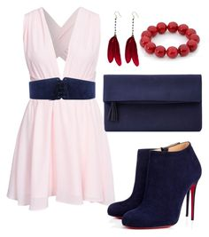 """""""NewStyle"""" by rzayeva2000 ❤ liked on Polyvore featuring OSCAR Bijoux, NLY Trend, Christian Louboutin, Blugirl and John Lewis"""