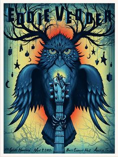 Eddie Vedder - Jeff Soto I purchased this concert poster last November and I hope to have this as my first tattoo