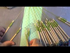 Beginner bobbin lace tutorial. Lace is much simpler than it looks!  Here, you are shown how to make a simple bookmark, and are taught the absolute basics, very user friendly!