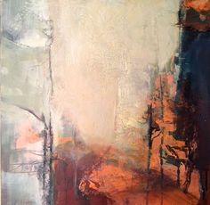 Growing Beyond-Abstract Landscape by Joan Fullerton Acrylic ~ 16 x 16