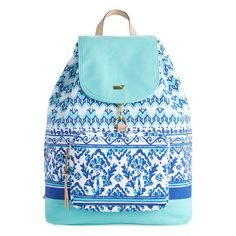 96c38231eb07 Bubbles Print Canvas Day Pack ($98) ❤ liked on Polyvore featuring bags,  backpacks