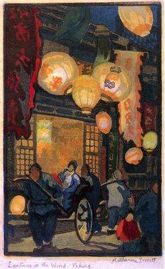 urgetocreate:  Katherine Joweeltt, Lanterns in the Wind, Peking