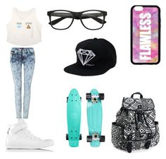 """""""MRS.EGO"""" by candygirl156 ❤ liked on Polyvore featuring Forever 21, Converse, Aéropostale and 7 For All Mankind"""