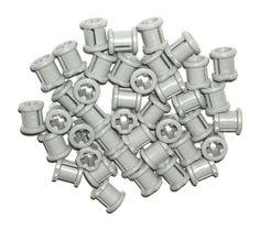 LEGO 40 Light Bluish Gray Technic Mindstorms Bush Parts NEW 42043 #LEGO