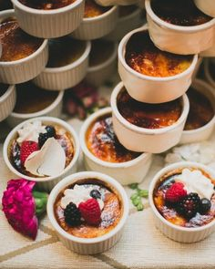 Creme brulee tower