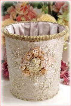 Lace and Roses Basket