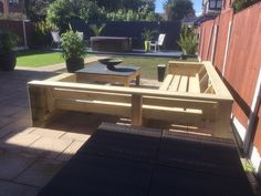 DIY ,modern outdoor corner sofa seating made from standard 6x2 timbers,built by myself ,just the cushions to finish it