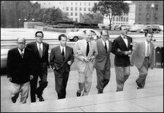 Congress convened a House Committee on Un-American Activities (HUAC) to investigate Communist influence in Hollywood.Although most of the Hollywood Ten were Party members,instead of simply invoking their 5th Amendant rights they challenged the Committee's right to ask about their political beliefs.Congress cited all for contempt .After failed appeals,they were jailed.