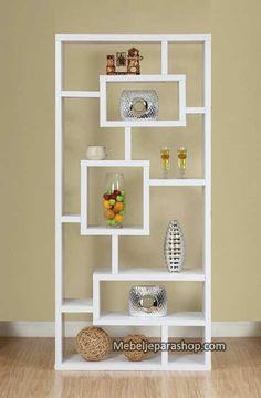 Jual Rak buku (multi fungsi ) lemari pajangan minimalist asli Jepara harga Terjangkau !  Pesan sekarang juga !
