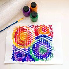 Bubble Wrap Paint Print