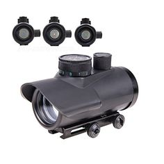 Pinty Tactical Reflex RedGreenBlue Dot Sight Riflescope with Free 30mm Mount Rails 38 Weaver *** Read more at the image link.