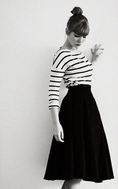 perfection. balanced ... from the bun, to the skirt, and the stripes ... Looooovve