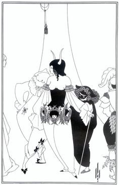 The Masque of the Red Death by Aubrey Beardsley