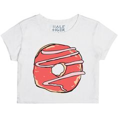 Donuts are a pretty important part of life. Show some respect. Design printed on Half Tiger Womens Crop Top. Color: Snow #Donut