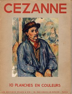 Cézanne 10 Planches En Couleurs: Framable, Les Editions Braun and Cie, Paris, Tipped in Reproductions on Gray Stock with title, provenance by ArtPaperEtc on Etsy