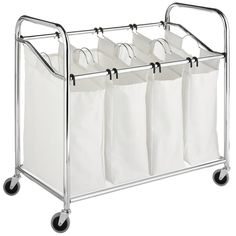 Whitmor Chrome 4-section Laundry Sorter - Overstock™ Shopping - Great Deals on Hampers