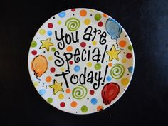 Birthday Plate - It\u0027s Your Special Day 12 Inch Ceramic Plate & Ready to Ship - 9\