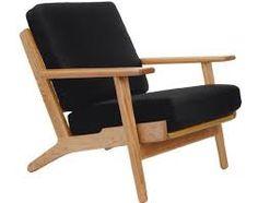 Afbeeldingsresultaat voor design fauteuils hout en stof