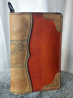 Custom Field Notes Cover With Baseball Glove Leather Accents-Vvego Leather Notepad, Handmade Leather Wallet, Leather Notebook, Leather Gifts, Leather Books, Leather Journal, Leather Craft, Small Leather Bag, Leather Purses