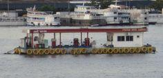 Atem floating gas station near Manaus - Brazil on the Amazon