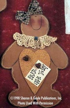 Gingerbread Memo Boards-gingerbread, wood kits, wood crafts, wood parts, craft kit, cork board