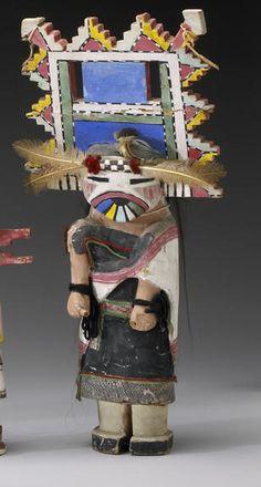 A Hopi kachina doll Otto Pentewa, the large doll depicting a Butterfly Maiden kachina