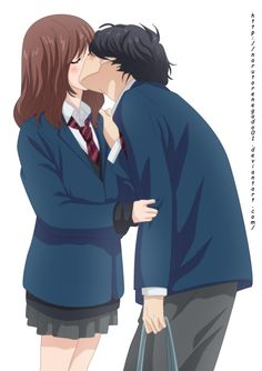Anime Couples Ao Haru Ride 49 (FINAL): will love you forever by on DeviantArt - Anime Kiss, Manga Anime, Anime Couples, Cute Couples, Futaba Y Kou, Ao Haru Ride Kou, Tanaka Kou, Best Romance Anime, Tsubaki Chou Lonely Planet