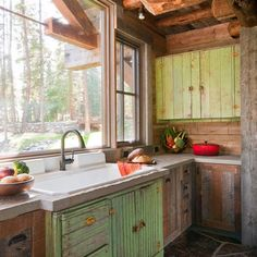 Kitchen Tiny Vintage Rustic Cabin Design, Pictures, Remodel, Decor and Ideas - page 5