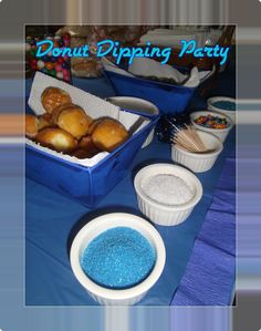 donut dipping party