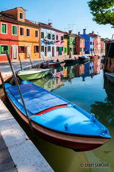 The colourful houses of Burano, a small island north of Venice.