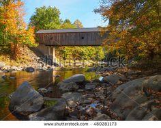 """Bram Reusen's """"Vermont Covered Bridges"""" set on Shutterstock"""