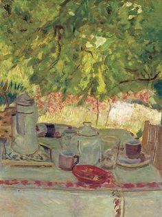 Breakfast under the Arbor,1908 Pierre Bonnard