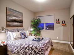 Transitional Bedrooms from Wonderland Homes on HGTV. Perfect amount of furniture in the room.