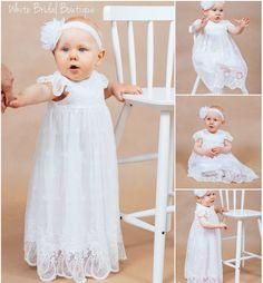 Excellent Silk Baptism Gown Rose Infant Christening Sizes Choose An Option 0 3m