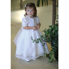 1a31ff3770f Your little girl will be so pretty in this Angels Garment white organza sequin  baptismal dress. Soft and sweet christening dress features embroidered ...