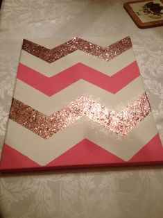 DIY Chevron Wall art. So cute! Just use color schemes from your bedroom for the chevron stripes. | Cool decor stuff