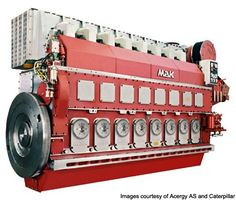 The marine diesel generator engines with Woodward controls.