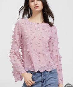 Shop Pink Embroidered Lace Up Back Scallop Hem Blouse online. SheIn offers Pink Embroidered Lace Up Back Scallop Hem Blouse & more to fit your fashionable needs. Scalloped Hem, Blouse Online, Embroidered Lace, Top Sales, Long Sleeve Tops, Ruffle Blouse, Lace Up, Chic, Shopping
