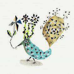Sofie Børsting: Graphic Birdy (43 x 43 cm)
