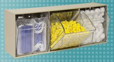TiltView Bins from Akro-Mils keep medical supplies visible, close at hand and dust-free. #organize #medical