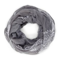 Feather Print Infinity Scarf