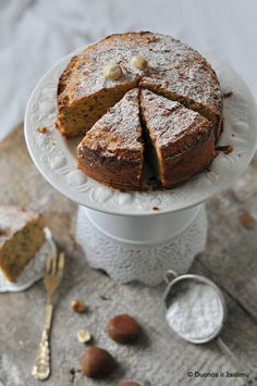 Flourless chestnut cake