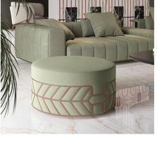 Modern aluminium decoraration for furniture Stool, Chair, Gold Line, Line Patterns, Tape, Ottoman, Modern, Furniture, Home Decor