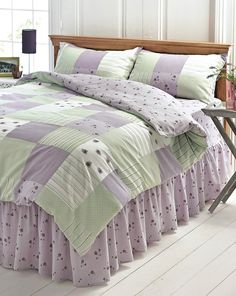 Inky Fl Grey Purple Duvet Cover Single Double King Superking Bedding Set And