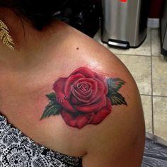Rose tattoo by Mike Ashworth. Rose Tattoos, Flower Tattoos, Tatoos, Slimming World Quiche, Tattoo Drawings, I Tattoo, Mother Tattoos, Shoulder Tattoos, Custom Tattoo