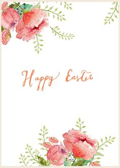 Craftberry Bush: Free watercolor Easter printable