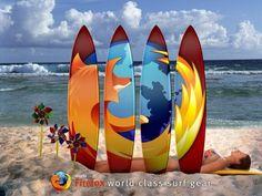 Bikini girl on world class surf gear Firefox