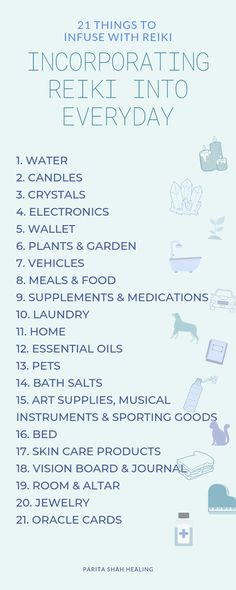 Infusing Reiki into Everyday - 21 Ways to Share Reiki Reiki, translated as spiritually-guided life force energy, is not exclusively channeled to humans and pets. In fact, Reiki can be channeled to inanimate objects as well in order to create protection, Le Reiki, Reiki Healer, Self Treatment, Reiki Benefits, What Is Reiki, Animal Reiki, Reiki Courses, Health And Wellness, Spirituality
