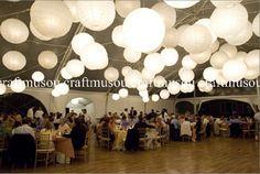"""40 Lanternes en papier avec led 5pc 6"""" 5pc 8"""" 5pc 10"""" 10 pc 12"""" 5pc 14"""" 5pc 16"""" 5pc 18"""" blanc ou mix 64.77€ + 70.33€ fdp"""